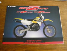 SUZUKI DRZ 400 MOTORBIKE BROCHURE,  2000. POST FREE (UK)