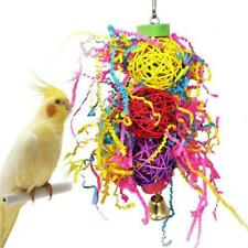 Parrot Bird Chew Toy Cage Hanging Strip Budgie Woven Grass Foraging V3Z8 H2Q8