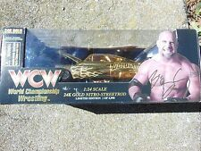 R/C  WCW NITRO-STREET RODS 1/24 GOLDBERG COLLECTOR DIECAST NASCAR 24K GOLD Toy