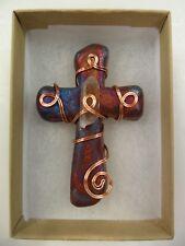 Raku Pottery Cross By Artist Jeremy Diller