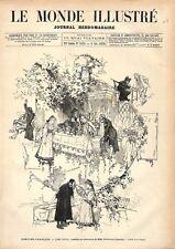 Théâtre Français Comédie Français L'Ami Fritz d'Erckmann-Chatrian GRAVURE 1876