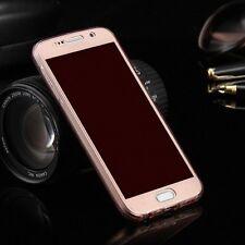 Full TPU Funda para Samsung Galaxy Note 8 Estuches Móvil Rosa Cubierta de Marco
