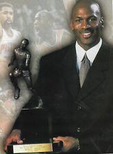 1996 Michael Jordan Chicago Bulls NBA Most Valuable Player Magazine Photo 8 x 11