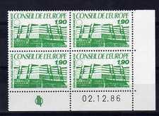 FRANCE YVERT Timbre de Service n° 93 neuf sans charnière - bloc de 4 coin daté