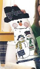 *Snowman Towel Holder -Pattern Only*Plastic Canvas Pattern*