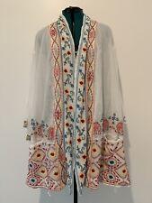 NWT Johnny Was Waverly White Cotton Kimono Sz 2X