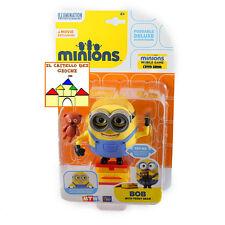 MINIONS - I Minion - Personaggio Deluxe 12cm BOB con TEDDY BEAR by MTW