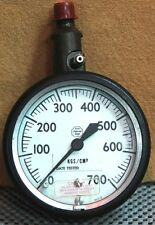 NOS ACCO Helicoil Gage 0-700 KGS/CM² (to approx. 10,000lbs.)gas pressure
