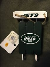 New York Jets Sled Christmas Ornament NFL New - Free Shipping