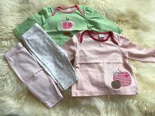 Bébé Filles Tops Tunique leggings et chaussettes Costume Set Taille 0-3 mois et Immaculée