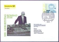 BRD 2010: Konrad Zuse! Post-FDC der Nr 2802 mit Berliner Stempel! Gelaufen! 1601