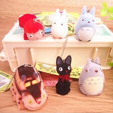 6 PCS/SET Miyazaki Hayao Studio Ghibli Totoro Ponyo JIJI Cat Bus Cat Toys Dolls