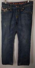 Rock Revival John Straight blue denim mens buckle Jeans size 30