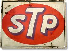 STP Motor Oil Gas Oil Garage Auto Shop Rustic Metal Decor Sign