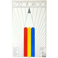 "Rare Neville Smith Pop Art ""Exhibition"" Saw Gallery Poster, 1972"