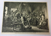 1883 magazine engraving ~ A CHILD'S WAKE IN CHILI South America ~ Chile