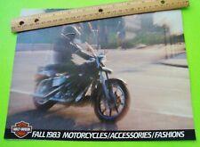 1984 HARLEY-DAVIDSON MOTORCYCLES / ACCESSORIES / FASHIONS DLX BROCHURE 24-p XLNT