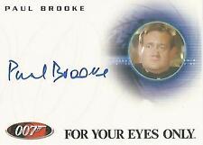 """James Bond Archives 2009 - A126 Paul Brooke """"Bunky"""" Autograph Card"""