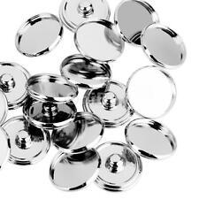 20Pcs/Lot Silver Adjustable Flat Blanks Ring Findings Pad Bases DIY Crafts