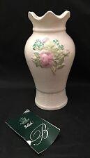 Belleek In Retrospect Ireland Floral Shamrock Clover Flower Vase 2001