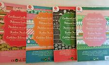 Bastelpapier  Weihnachten Tonkarton Motivpapier Glitzer Design A5 als Block
