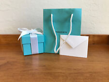 TIFFANY & CO. Suede Stamped RING CASE, OUTER BOX, BLANK CARD,  RIBBON and BAG