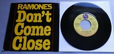"""Ramones - Don't Come Close USA 1978 Sire Promotional 7"""" Single"""
