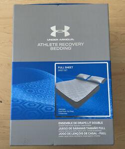 UNDER ARMOUR Athlete Recovery BRADY Bedding Sheet Set FULL Gray 1325132-094 New