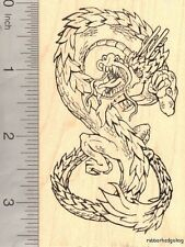 Large Chinese Dragon Rubber Stamp, Year of the Dragon L17303 WM