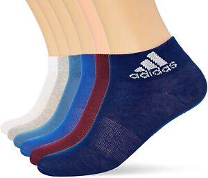 adidas Boys Kids Performance Ankle Socks 6 Pack (S99890) UK Sizes 9.5 - 5   B43