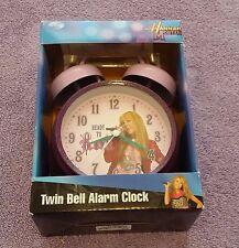Hannah Montana Twin Bell Alarm Clock Glitter in Box TV Series Teenager