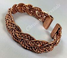 MAGNETIC Solid Copper AZTEC Style WOVEN Bracelet Arthritis Pain Relief ( M83 )