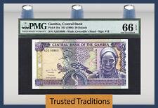 TT PK 19a 1996 GAMBIA 50 DALASIS PMG 66 EPQ GEM UNCIRCULATED TOP POPULATION!
