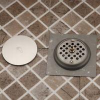 Tile Insert Solid Brass Bathroom Floor Drain Grate Invisible Shower Drainer