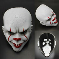 Movie Stephen King's IT Clown Pennywise Halloween Cosplay Party Resin Mask Props