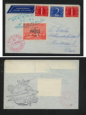 Netherlands ,rocket flight cover,  nice label   1959       MS0927