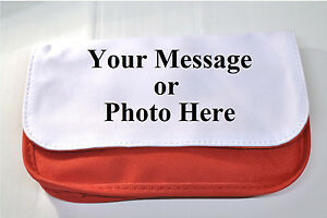 Personalised Pencil / makeup case Red or Black