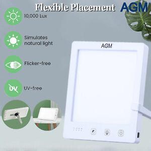 Touchbedienung Multi Winkel St/änder Simulation von Tageslicht Speicherfunktion Tageslichtlampe 10000 Lux Timer Lichttherapielampe Flimmer Frei Tageslichtleuchte mit 3 Lichtfarben Dimmbare LED