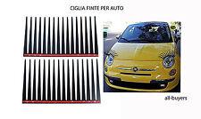 CIGLIA FINTE PER AUTO IDEA REGALO TUNING per CAMPER AUTO CAMION STIKERS adesivi