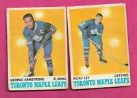 1970-71 OPC TORONTO MAPLE  LEAFS CARD CREASED LOT  (INV# C7745)