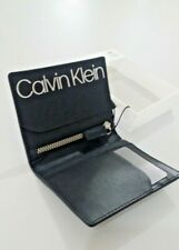 CALVIN KLIEN MEN LEATHER CARD HOLDER AND COIN SLOT W/ZIP