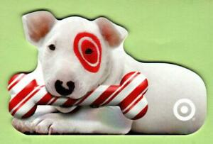 TARGET Bullseye with Candy Cane Bone 2005 Die-Cut Gift Card ( $0 )
