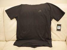 NWT Mens Nike Sportswear Bonded Short Sleeve Shirt M Medium Black 861520 010 $65