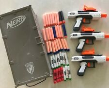 Nerf Star Wars 3 Dart Guns Pistol N-Strike Ammo Box Locker Darts Bullets Gun