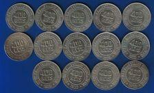 LB) Brazil Brasil Complete set (14 coins) 400 Reis 1918 / 1935 KM#520 NICE COINS