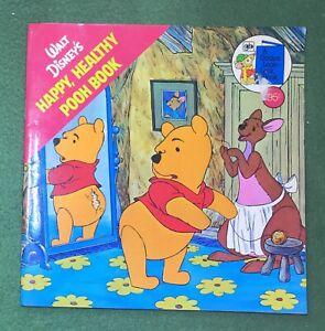 Winnie the Pooh HAPPY, HEALTHY POOH BOOK Golden Books Walt Disney AA Milne 1977