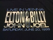 Elton John Billy Joel Live In Vienna 1998 Concert Tour HBO Local Crew T-Shirt XL