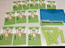 Banana Counting Learning Center- Math Mats Mats - Laminated Mats
