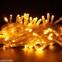 100 LED 10M YELLOW String Fairy Lights Christmas Wedding Garden Party Xmas Decor