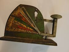 VINTAGE GREEN JIFFY WAY POULTRY EGG SCALE RUSTIC FARMHOUSE CHICKENS